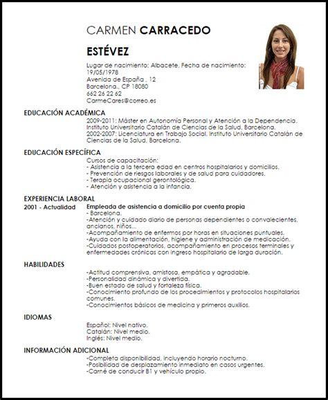 Ejemplos de currículum vitae png 603x736